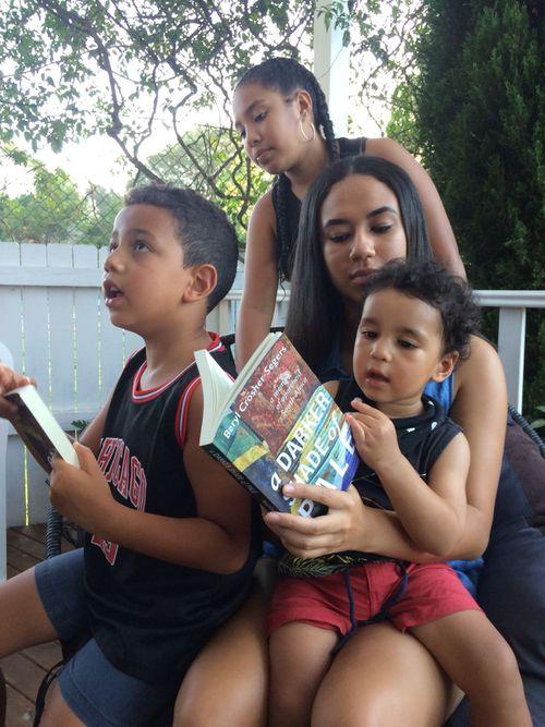 Grandchildren Joshua, Alexander, Chelsea and Charlotte. Picture: Supplied