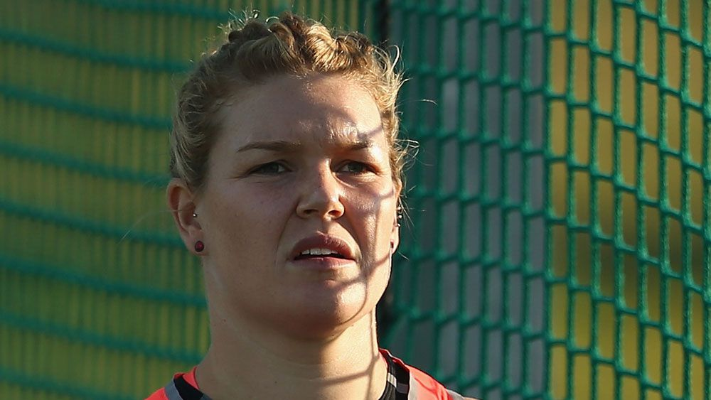 Dani Samuels is through to the women's discus final. (Getty Images)