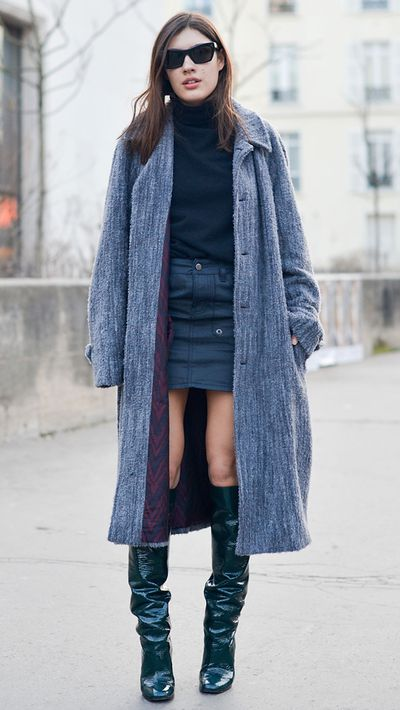 The simple act of layering can turn a slinky outfit into a winter hit.