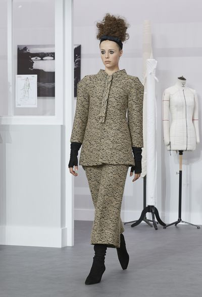 <p>For his Winter 2016 couture show, Kaiser Karl invited guests to a makeshift behind-the-scenes Chanel atelier - painstakingly rebuilt in the Grand Palais&nbsp;down to the pin - to honour the 200-strong haute couture team that tirelessly assembled the 70 intricate looks presented yesterday in Paris.</p> <p><br> Referred to as&nbsp;'les petites mains'&nbsp;- or 'the little hands' - the seamstresses and technicians continued working in their 'studio' as models including Australian Catherine McNeil swanned through in fresh takes on house classics: boxy, prismic tweed suiting, careful embroidery, precious stone embellishment and flocks of feathers among multitudes of hand techniques too beautiful for words.</p> <p><br> Click through to see the collection in full.&nbsp;<br> <br> </p>