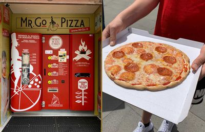Vending machine that makes pizza in three minutes pops up in unlikely city