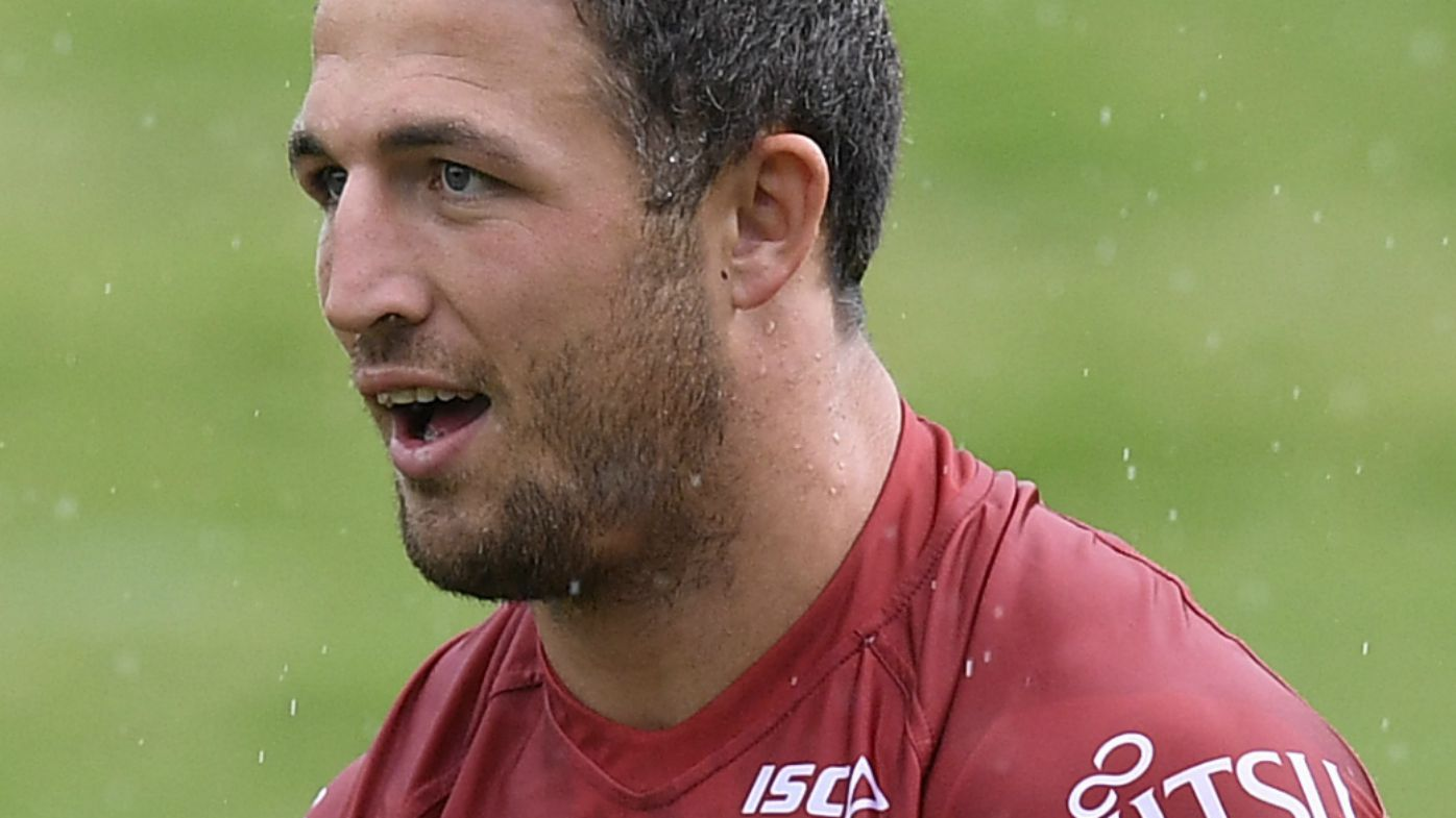 Sam Burgess in training