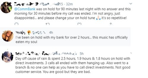 Tweets from frustrated customers, collated by horribleonhold.com