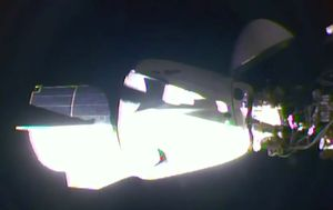 NASA-SpaceX rocket docks with International Space Station