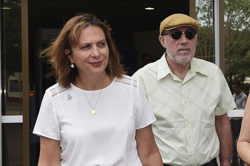 The parents of Sabrina, Michael and Lidia Di Lembo, outside Darwin Local Court yesterday.