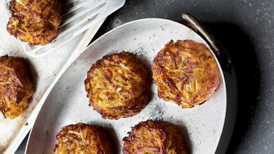 "Recipe: <a href=""https://kitchen.nine.com.au/2017/07/17/15/07/sweet-potato-and-rosemary-hash-rosti"" target=""_top"">Sweet potato and rosemary hash-r&ouml;sti</a>"