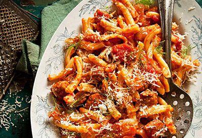 Italian sausage, fennel and casarecce