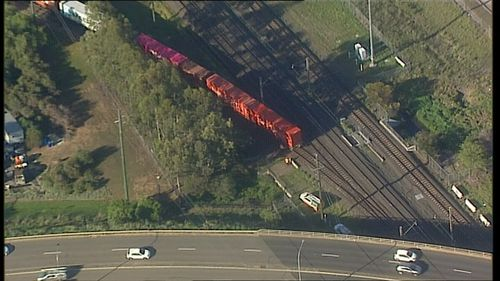 Sydney commuters on the T8 Airport & South line are being urged to allow more travel time after a train partially left its tracks this morning.