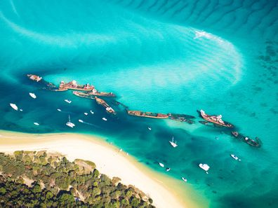 Moreton Island shipwrecks, Queensland