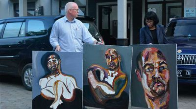 "<br> April 27, 2015: Sukumaran painted a self-portrait entitled ""72 Hours Just Started"".<br>"