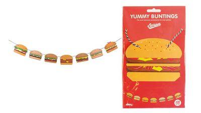 """<strong>Doiy yummy burger bunting</strong>, $14, <a href=""""https://www.petersofkensington.com.au/Public/Doiy-Yummy-Burger-Bunting.aspx"""" target=""""_top"""">petersofkensington.com.au</a>"""