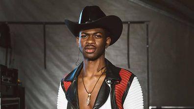 Rapper Lil Nas X wears cowboy hat