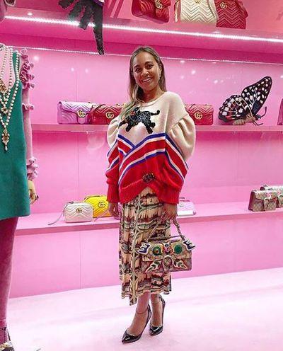 Jessica Mauboy in Gucci at the Gucci Garden, Sydney. November, 2016.