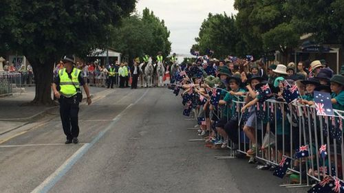 People have been lining up all day hoping to catch a glimpse of the royals when they arrive. (SA Police)