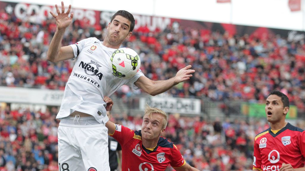 Iacopo La Rocca during the round nine match between Adelaide United and Western Sydney Wanderers at Coopers Stadium. (AAP)