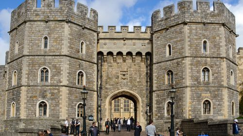 The carriage will come down Castle Hill and pass King Henry VIII gate. (Getty)