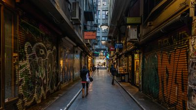 Iconic Melbourne alleyways fall quiet