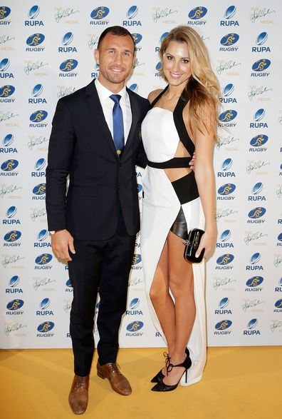 Dundovic with fiance Quade Cooper.