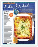 Ricotta and chorizo lasagne