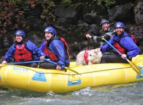 Remarkably, Mya has been white water rafting with Mark.
