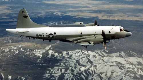 A US EP-3 reconnaissance plane, similar to the one intercepted this week. (Photo: AP).