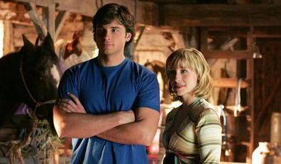 Allison Mack and Tom Welling