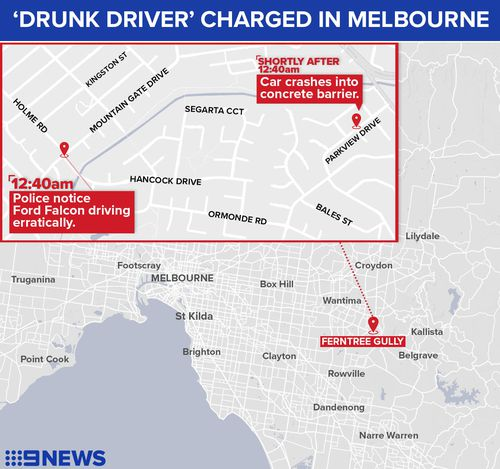 The driver will face the Ringwood Magistrates Court at a later date.
