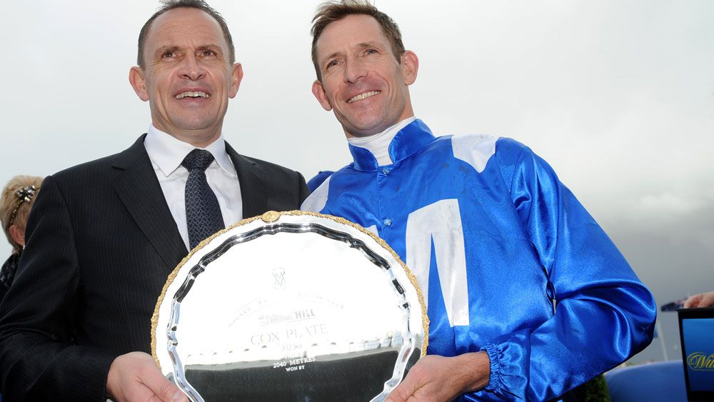 Chris Waller and High Bowman after one of Winx's many wins. (AAP)