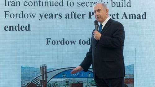 The Prime Minister made the claims during an press conference in Tel Aviv. (AP/AAP)