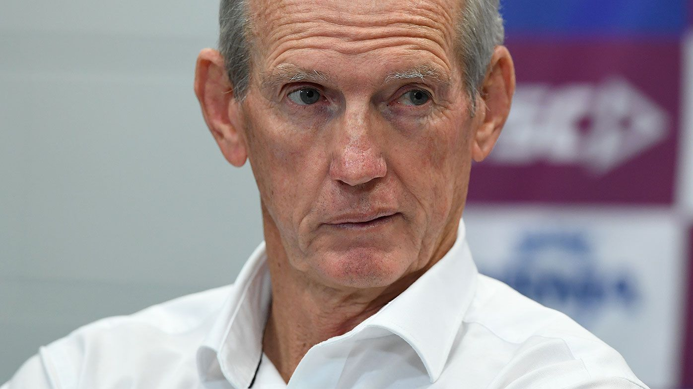 Wayne Bennett speaks to media