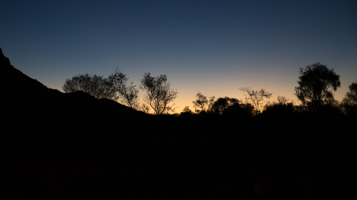 Sunset in Alice Springs in the Northern Territory. 11th April 2019 Photo: Janie Barrett