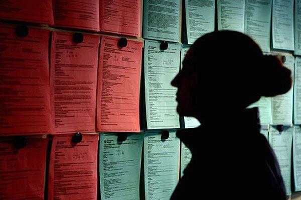 Person at job centre