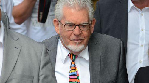 Rolf Harris outside court. (AAP)