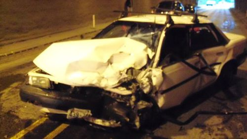 Driver holding breath causes three-car crash