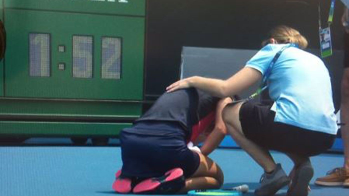 Dalila Jakupovic forced to retire from Australian Open qualifying after coughing fit