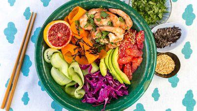 "Recipe: <a href=""http://kitchen.nine.com.au/2017/08/25/11/31/redbelly-citrus-blood-orange-poke-bowl"" target=""_top"">Redbelly citrus blood orange poke bowl</a><br /> <br /> More: <a href=""http://kitchen.nine.com.au/2017/09/28/15/13/world-heart-day-recipes"" target=""_top"">World Heart Day recipes</a>"