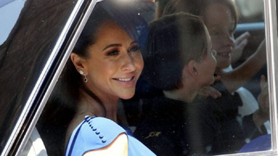 Jessica Mulroney arrives for the royal wedding