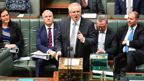 Scott Morrison in Question Time.