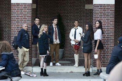 Gossip Girl, reboot, interview, cast Evan Mock, Thomas Doherty, Emily Alyn Lind, Eli Brown, Jordan Alexander, Savannah Lee Smith and Zión Moreno.