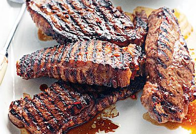 Chilli and honey barbecued steak