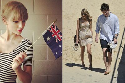 She may have been flying solo during her Aussie 2012 tour, but Tay Swizzle made sure to give the five-star treatment to one of the most important men in her life — lil' bro Austin. <br/><br/>The Swift siblings were spotted out all across Sydney, wading through the waves at Bondi and enjoying a not-so-quiet brekky at Bill Granger's café in Darlinghurst, <a href=http://www.bills.com.au/>Bill's</a>. <br/>