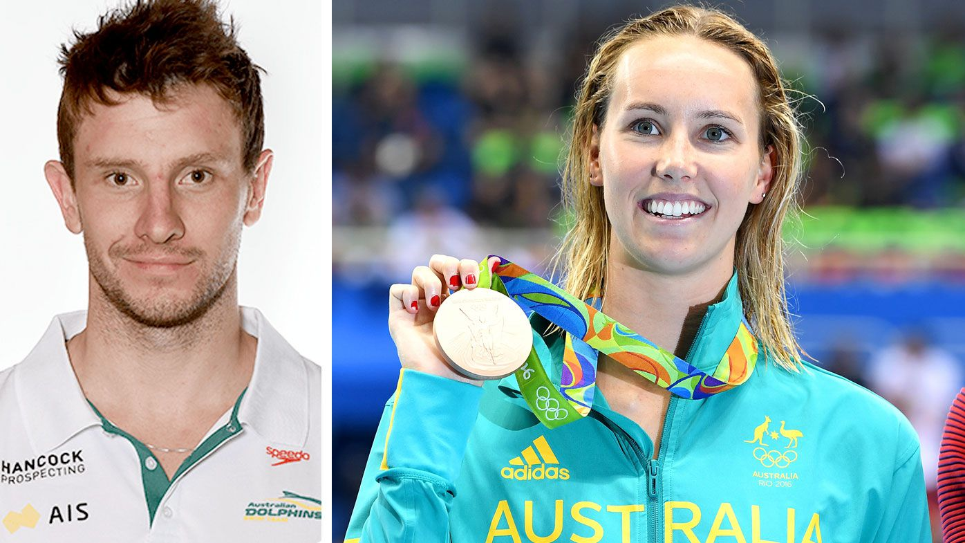 Josh Palmer and Emma McKeon. (AFP)