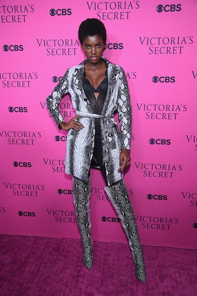 Amilna Estevao in I Am Gia at the Victoria's Secret viewing party in New York.
