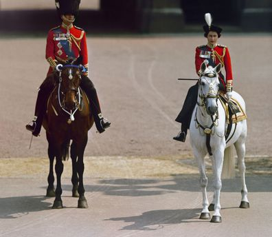 Trooping the Colour through the years