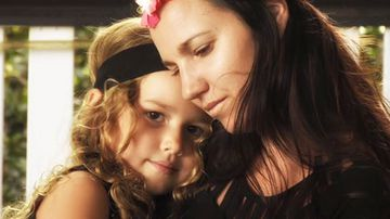 Queensland mum Emily Linder, pictured with her daughter Alira.