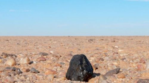 Part of the meteorite that landed at the Nubian Desert in Sudan in 2008. (Photo: NASA).