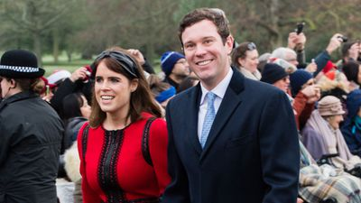 Princess Eugenie and husband Jack Brooksbank at Sandringham, December 25, 2018