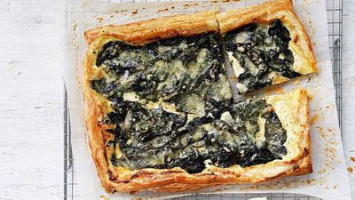 Silverbeet, ricotta and Fontina galette
