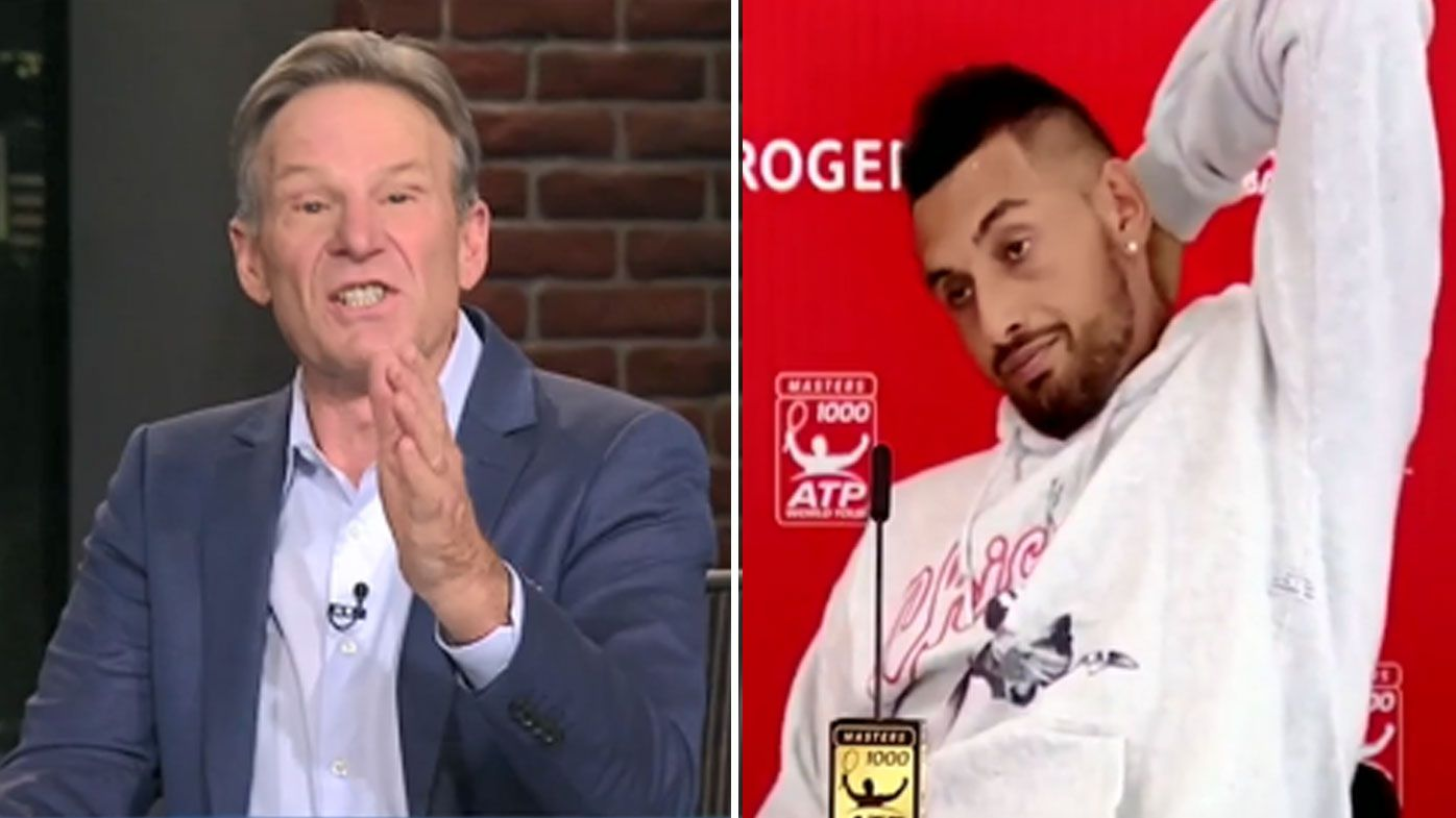 Sam Newman rips Nick Kyrgios for 'infantile' press conference at Rogers Cup