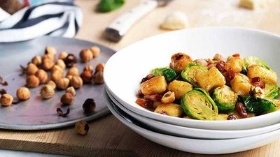 "Recipe: <a href=""http://kitchen.nine.com.au/2016/05/16/16/49/gnocchi-with-brussels-sprouts-pancetta-and-hazelnuts"" target=""_top"">Gnocchi with Brussels sprouts, pancetta and hazelnuts</a>"